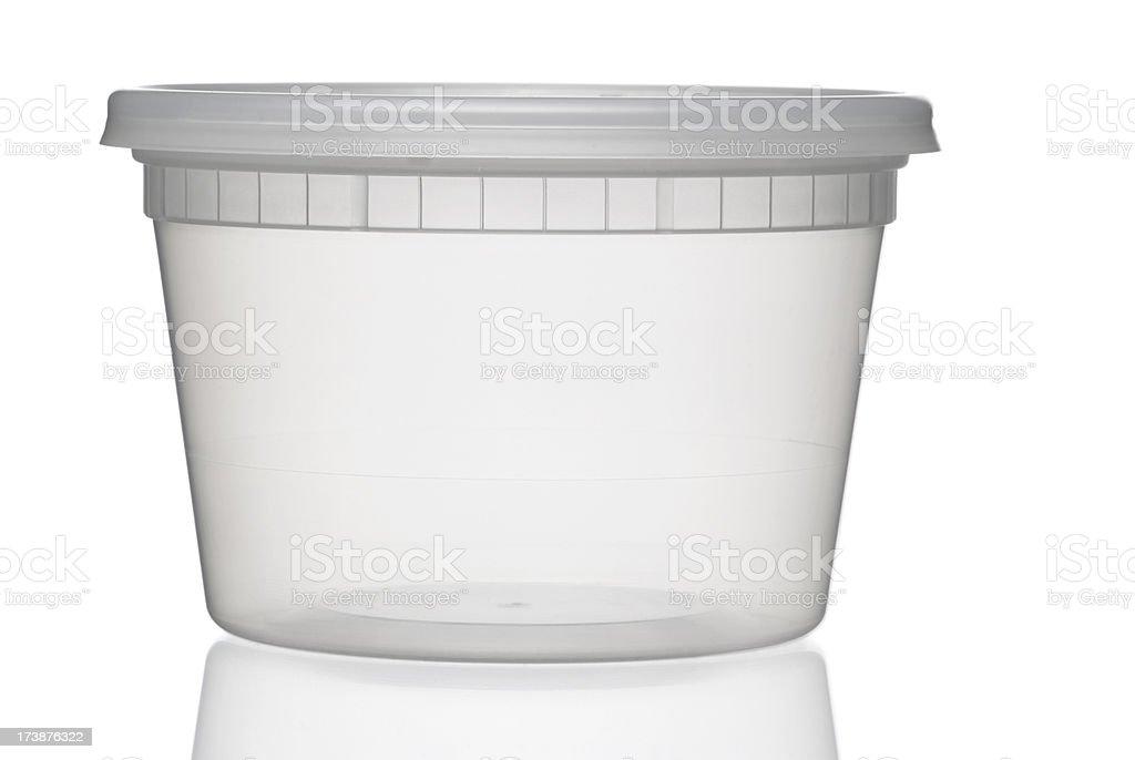 Translucent container stock photo