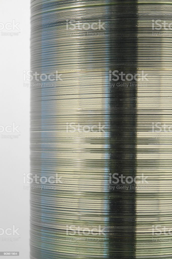 translucent disc tower royalty-free stock photo