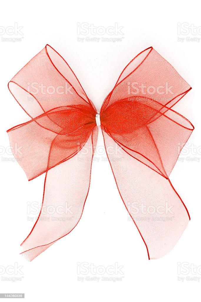 Translucent Red Ribbon stock photo