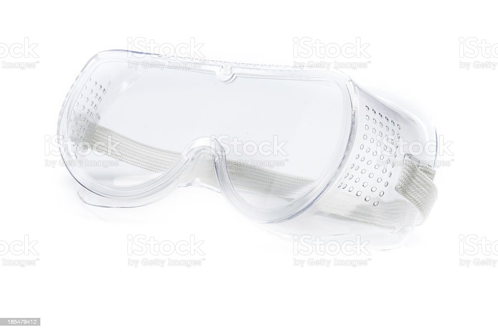 translucent safety glasses isolated royalty-free stock photo