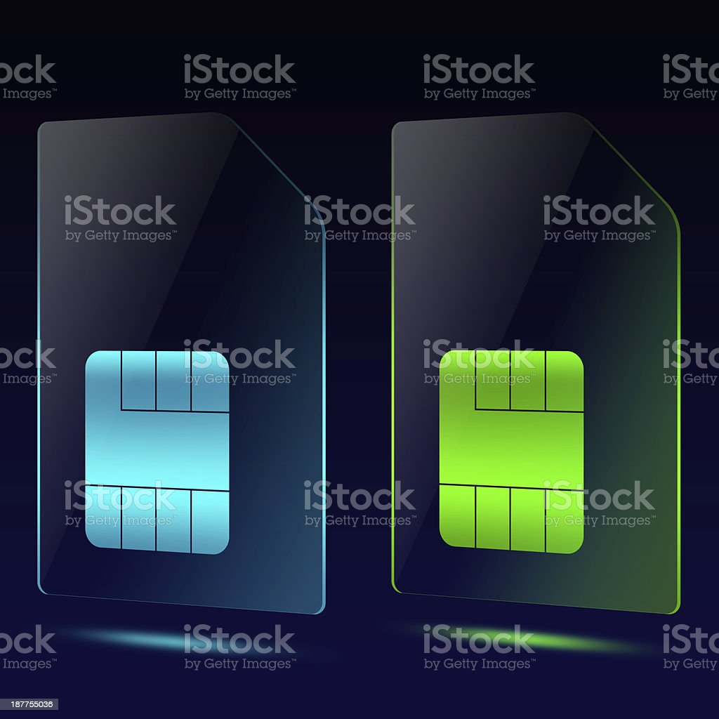 Translucent Sim Card royalty-free stock photo