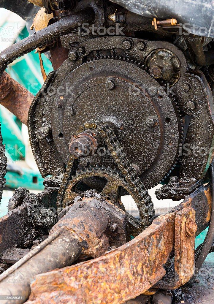 transmission chain stock photo