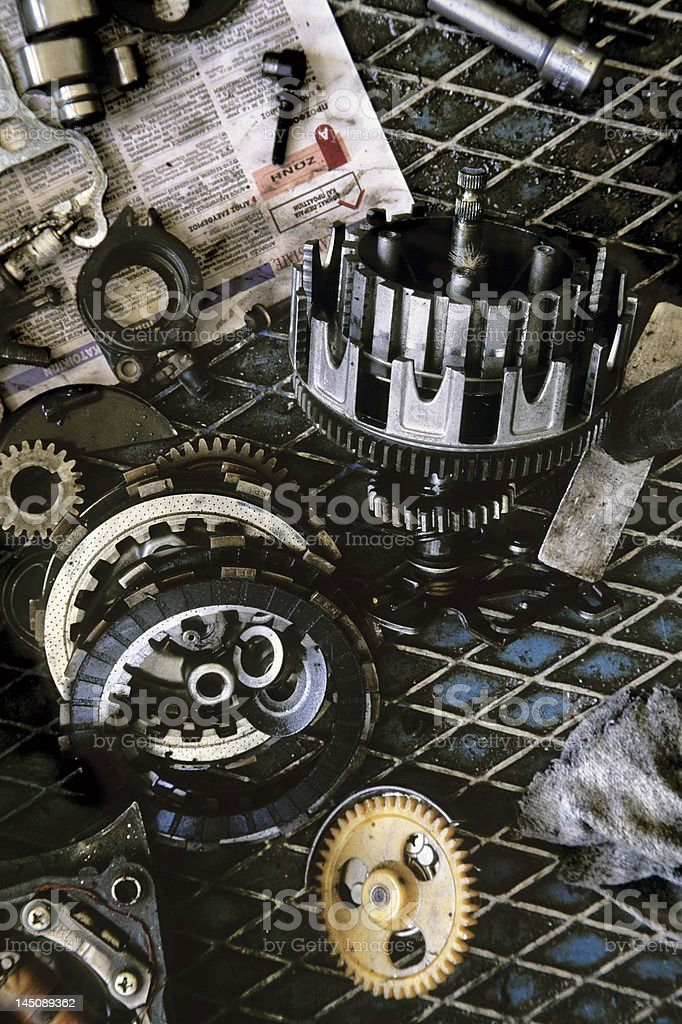 Transmission gear stock photo