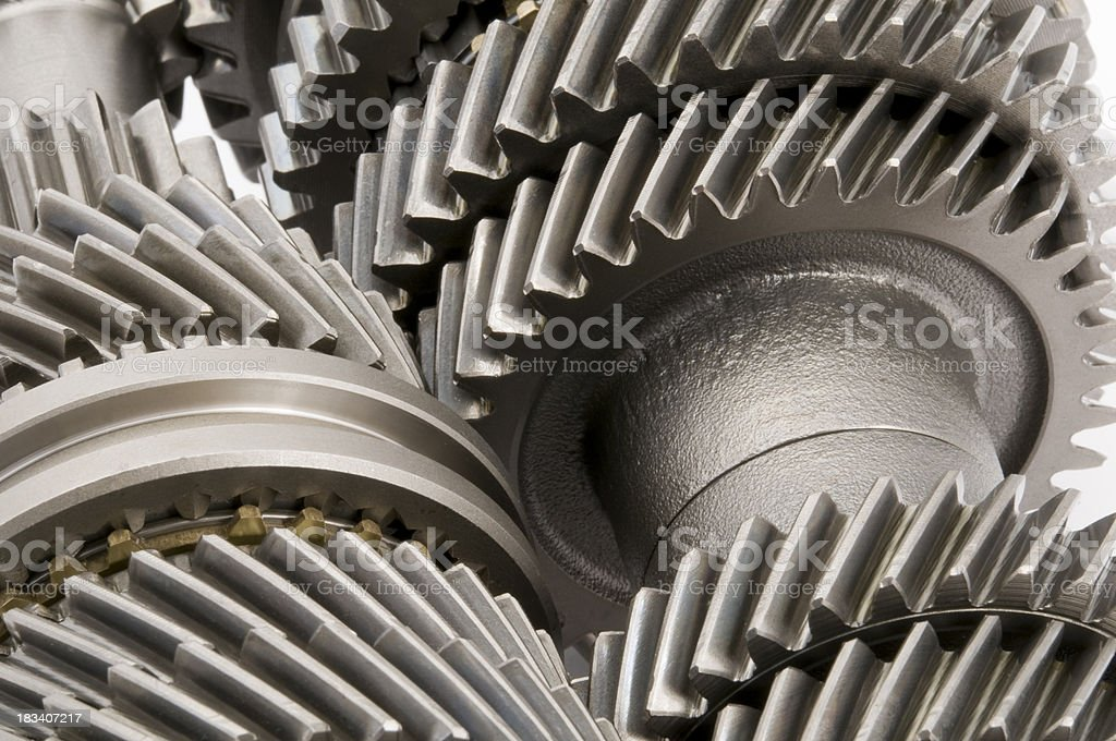 Transmission Gears - Close view royalty-free stock photo