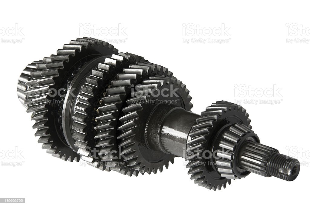 Transmission gears , isolated, on a white background royalty-free stock photo