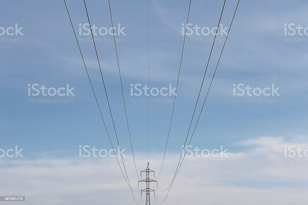 Transmission line electro wire royalty-free stock photo