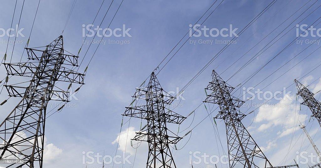 Transmission line royalty-free stock photo