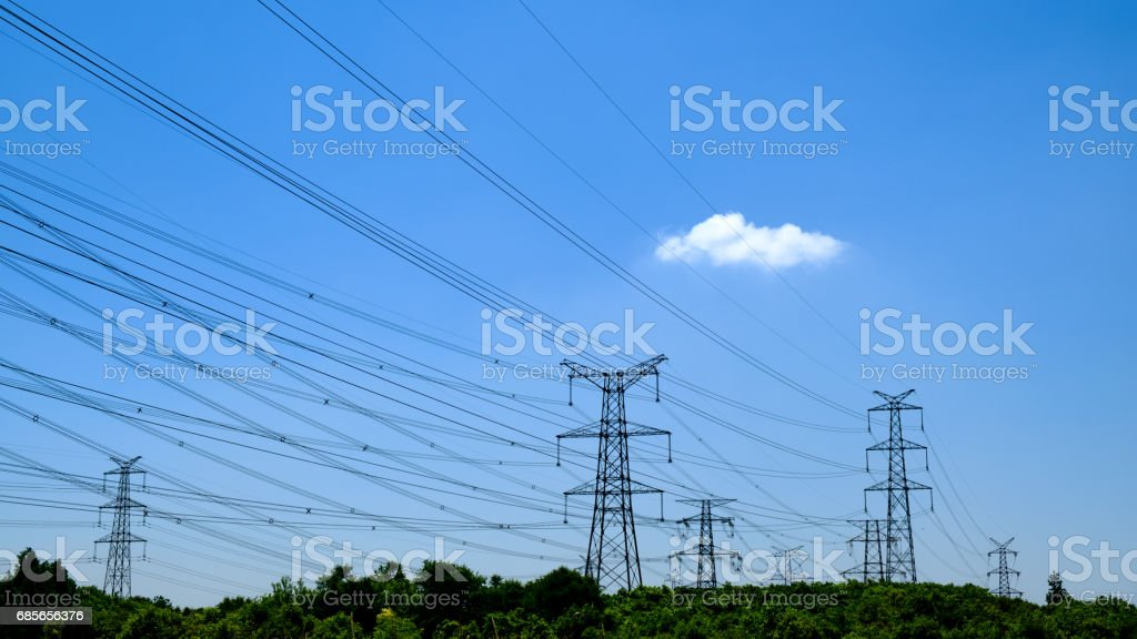 Transmission Line stock photo