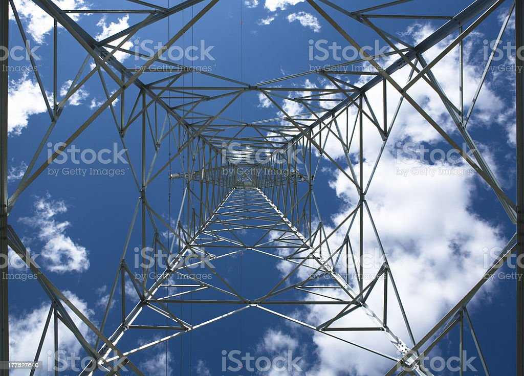 Transmission tower 3 stock photo