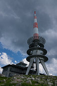Transmission tower on the Brocken of Harz,Germany