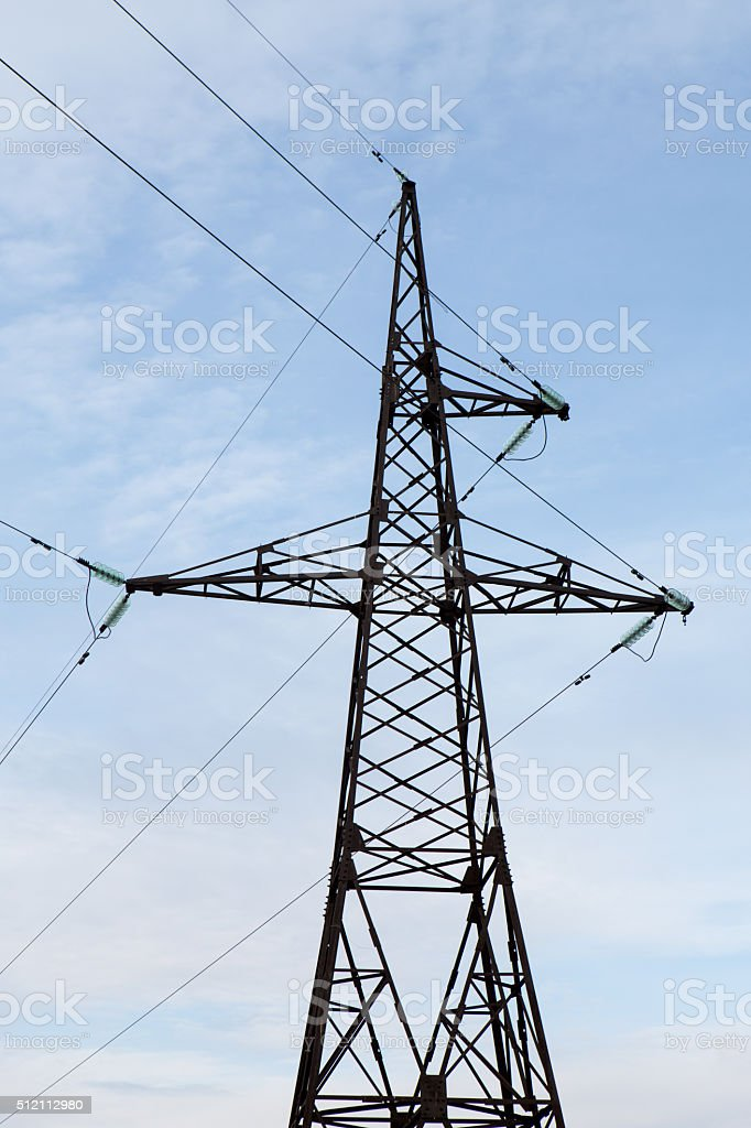 transmission tower stock photo