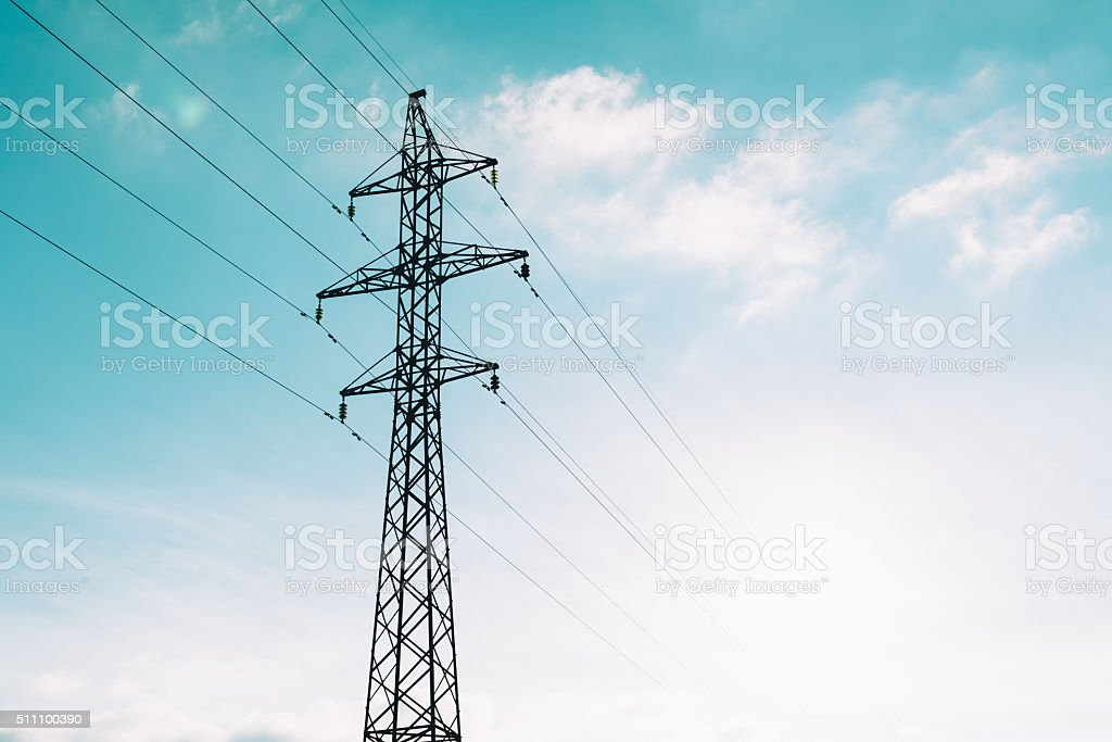 Transmission Tower sky stock photo