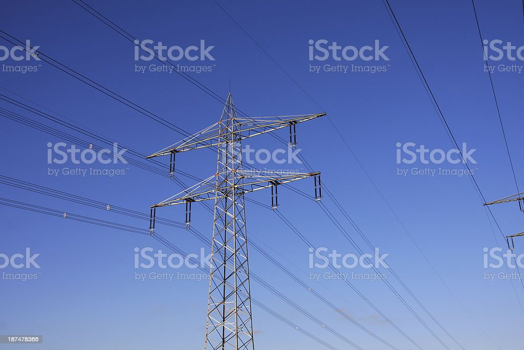 transmission towers royalty-free stock photo