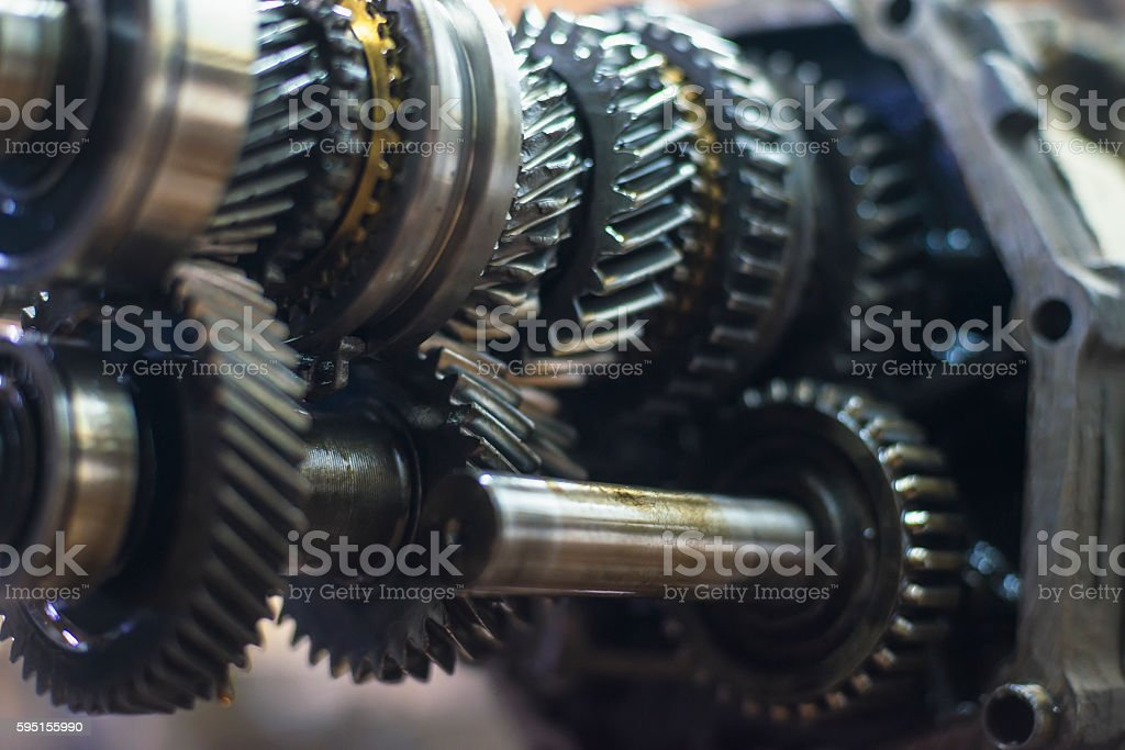 Transmission with shallow depth of field stock photo