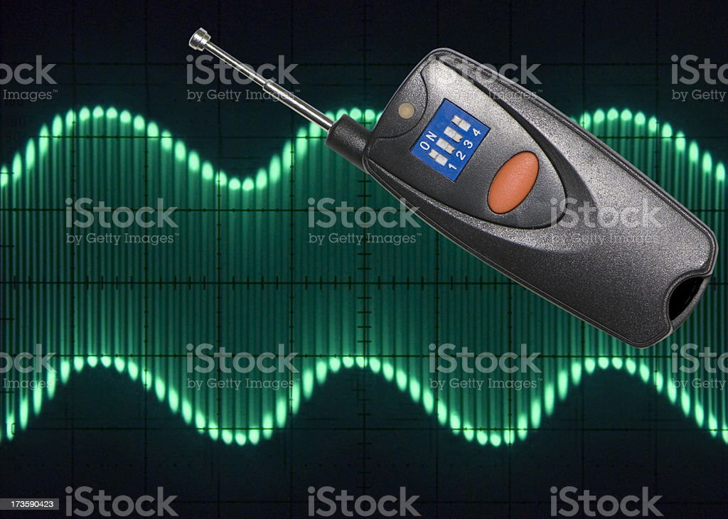 Transmitter with Modulated Waveform royalty-free stock photo