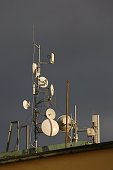 Transmitters on a roof