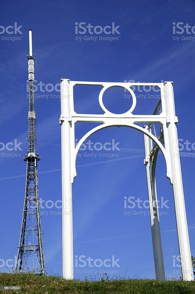 Transmitting Station And Construction Replica of Crystal Palace stock photo
