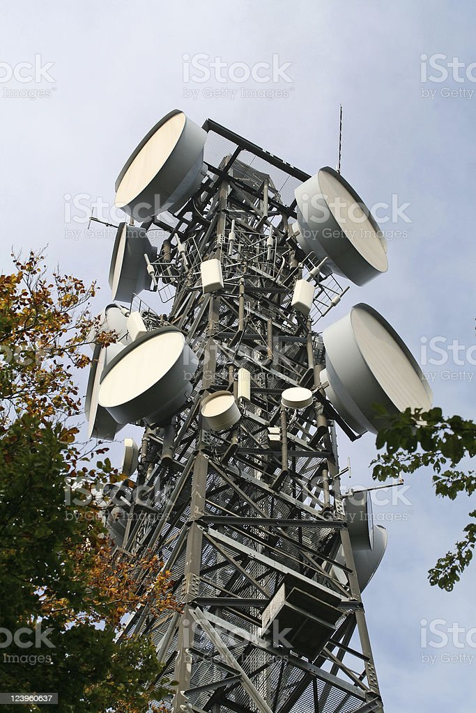 transmitting tower stock photo