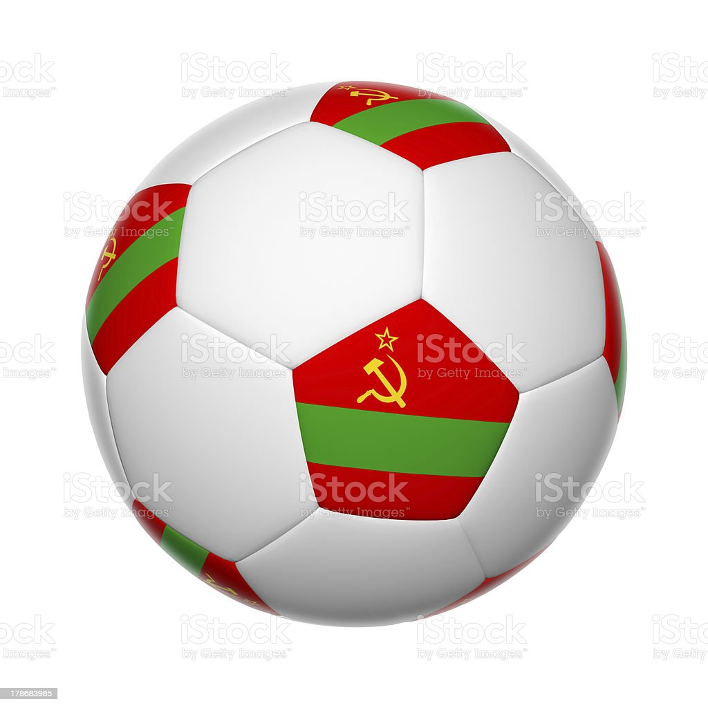 Transnistria soccer ball royalty-free stock photo