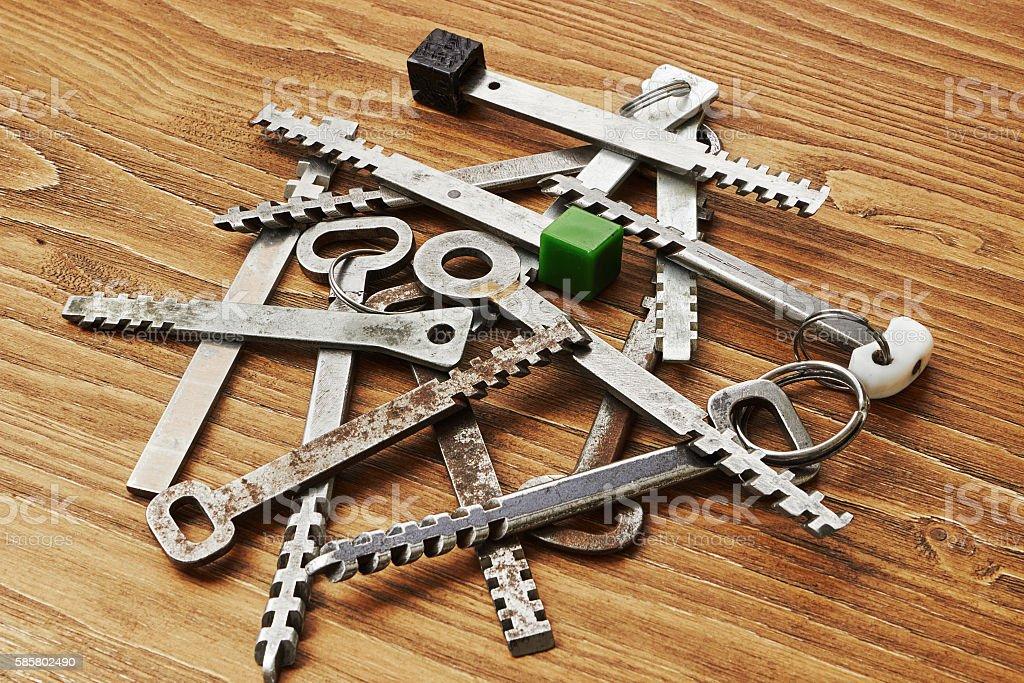 Transom door keys stock photo