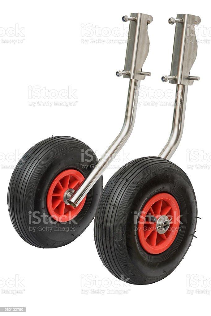 Transom wheels stock photo