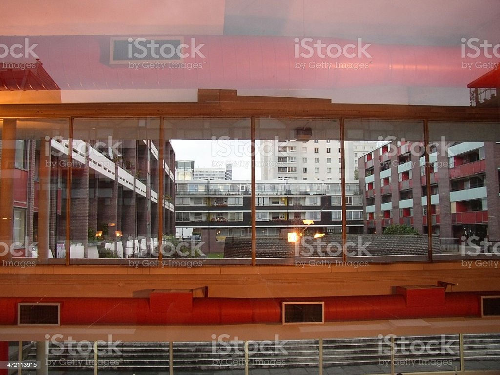 transparency and reflection stock photo