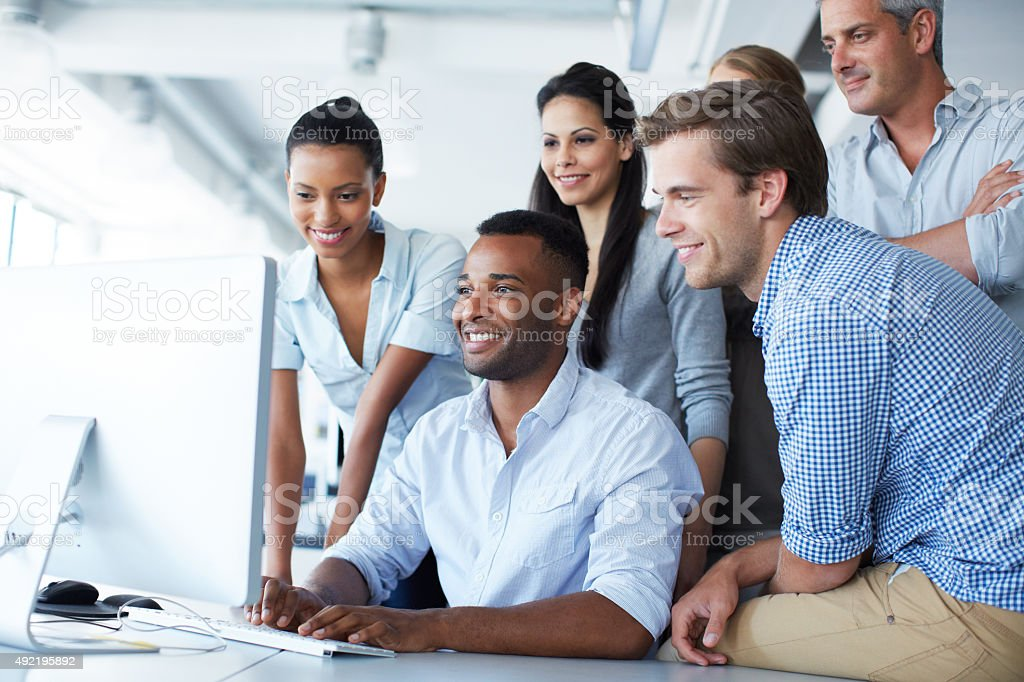 Transparency is a must for successful teamwork stock photo