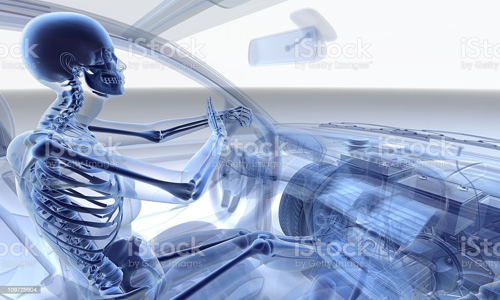 Transparency of woman driving in a car royalty-free stock photo