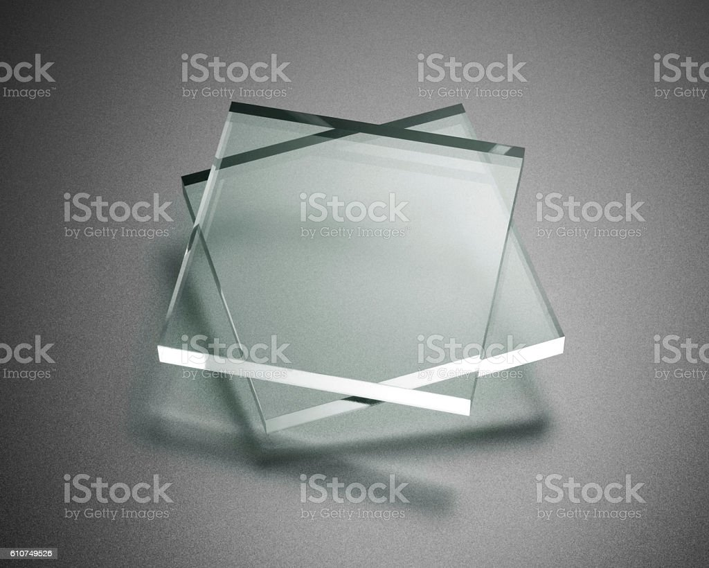 Transparency plate abstract stock photo