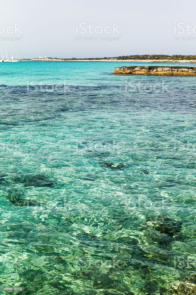 transparency water in the sea stock photo