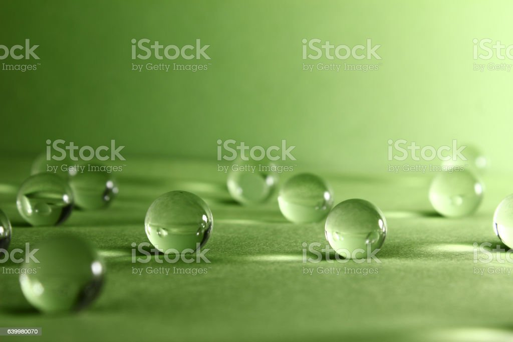 Transparent balls. Abstraction. stock photo
