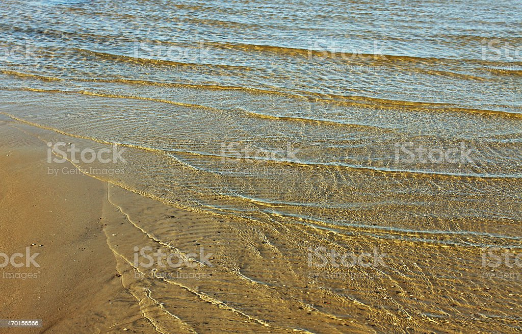 Transparent Baltic sea. stock photo