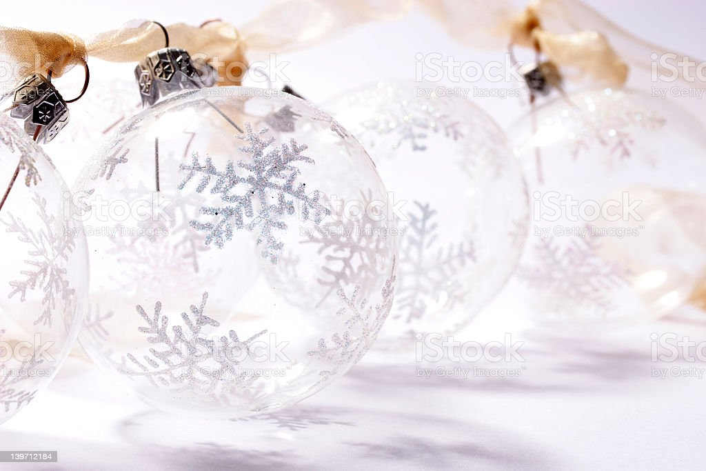 Transparent baubles royalty-free stock photo