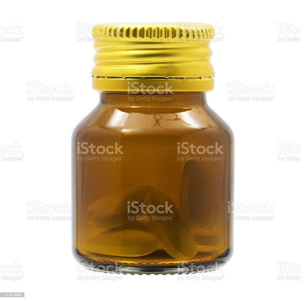 Transparent bottle stock photo