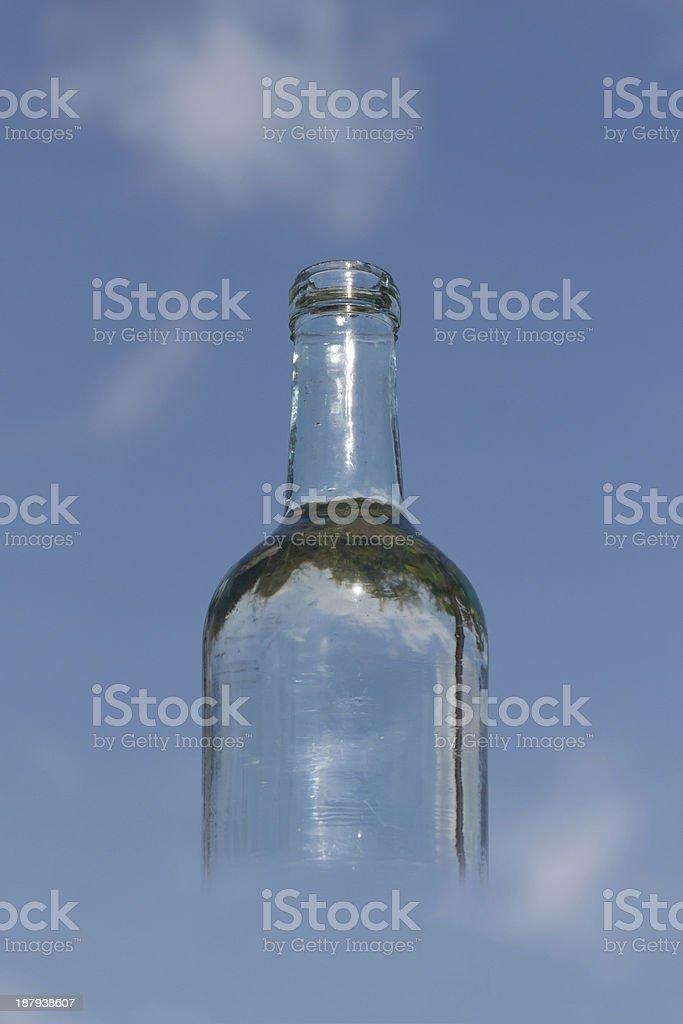 transparent bottle royalty-free stock photo