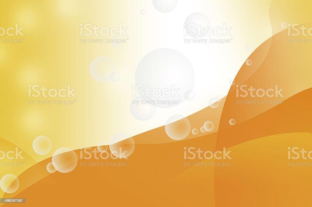 Transparent bubbles on orange background royalty-free stock photo