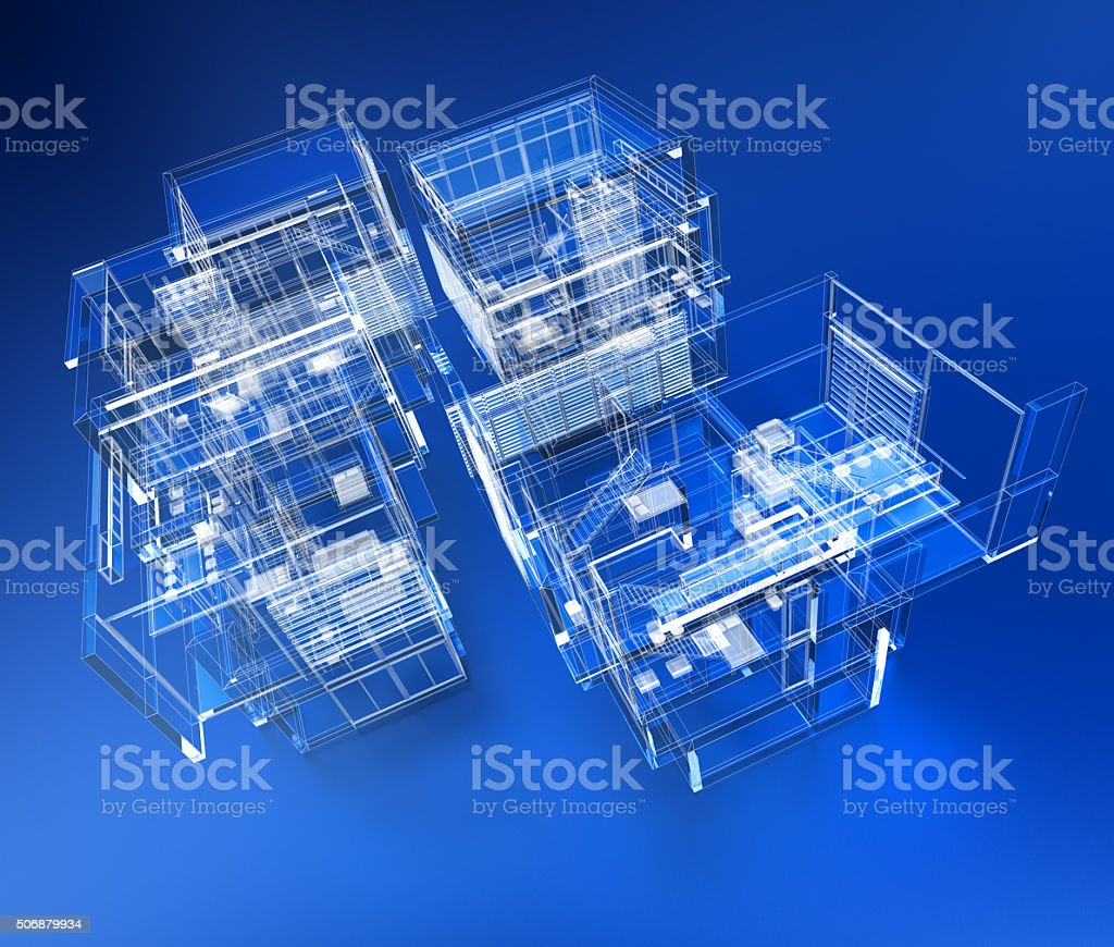 Transparent building stock photo