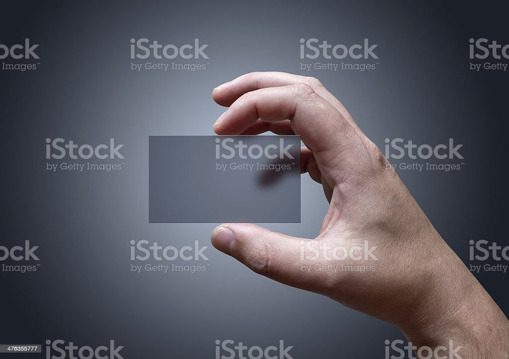 Transparent Business Card royalty-free stock photo