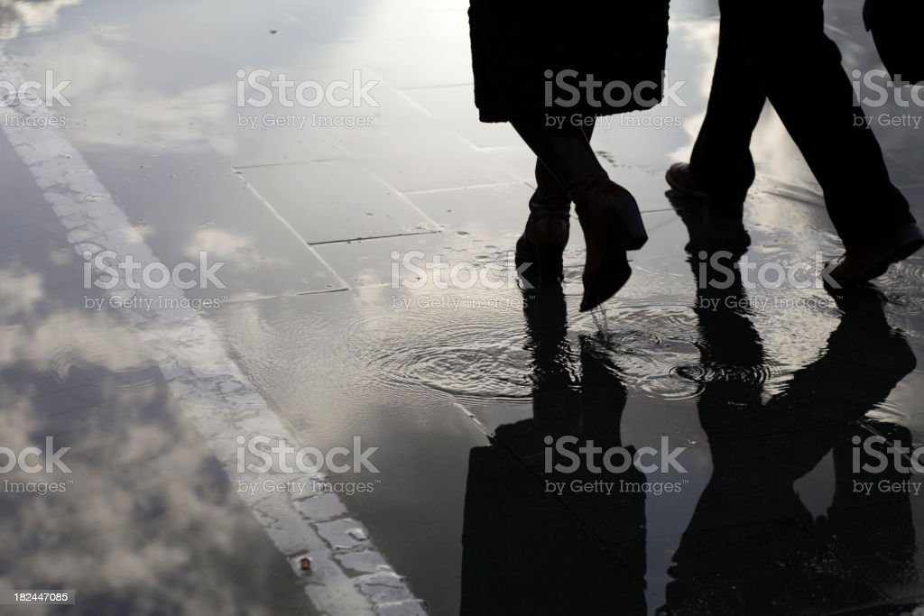 Transparent Business People royalty-free stock photo