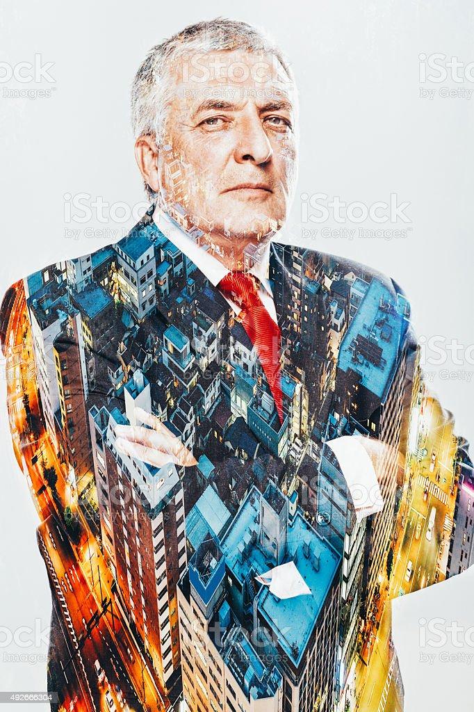 Transparent Businessman stock photo