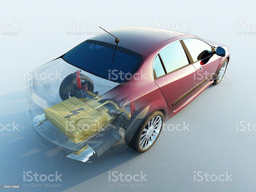 Transparent car stock photo