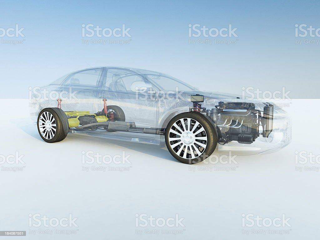 Transparent car royalty-free stock photo