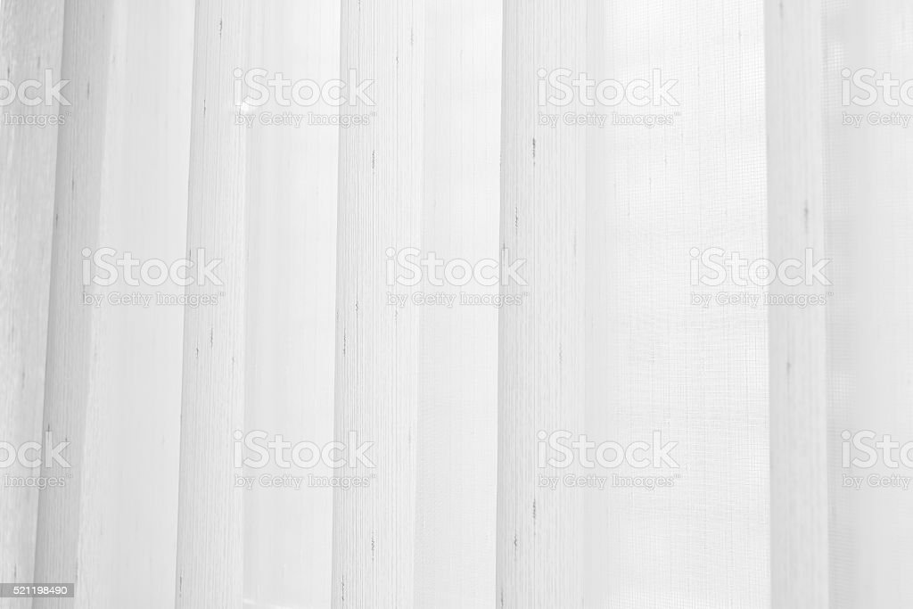 Transparent curtain on window. Curtain background stock photo