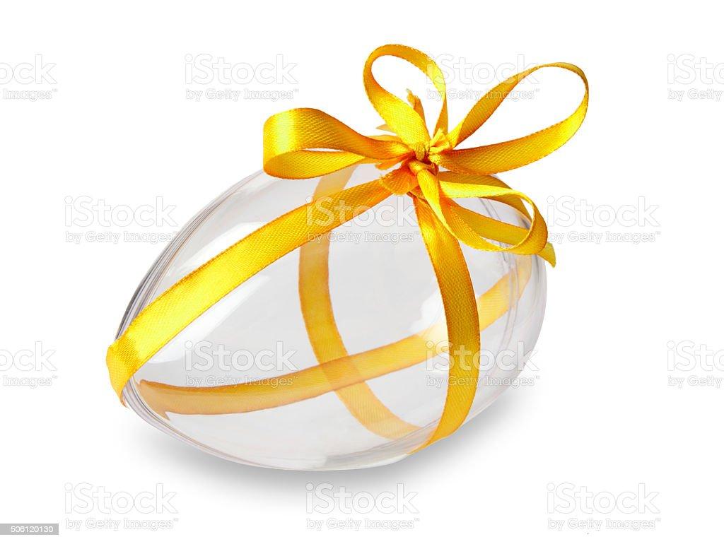 Transparent Easter Egg stock photo