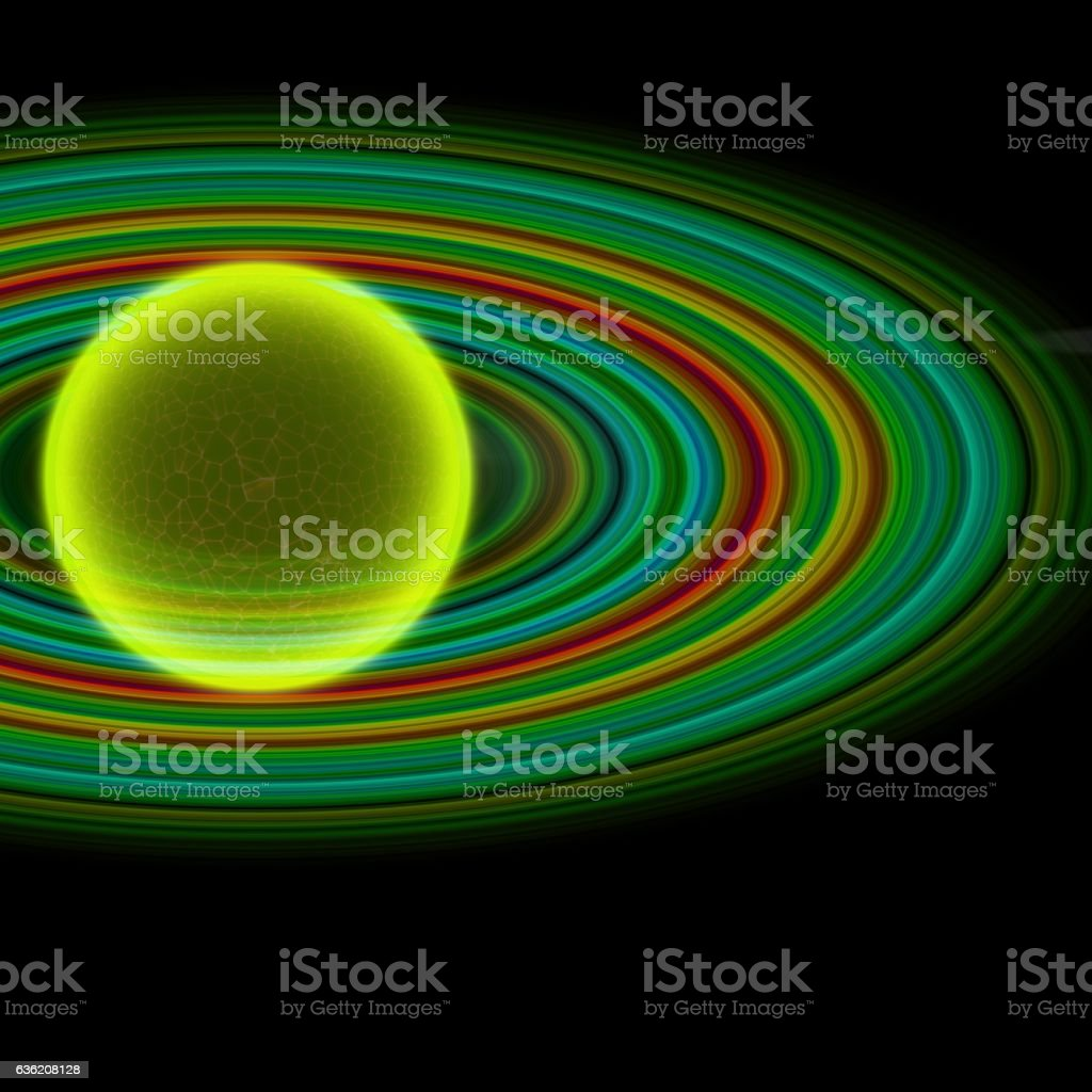Transparent futuristic planet stock photo