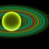 Transparent futuristic planet