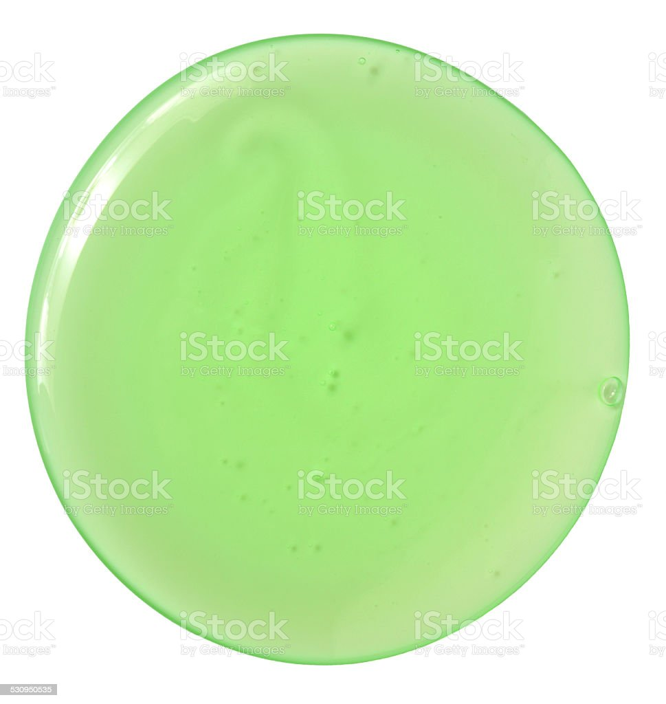 transparent gel stock photo