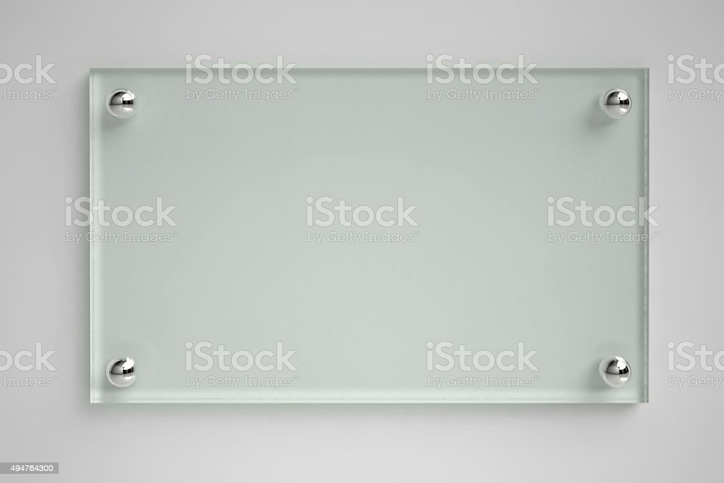 Transparent glass board stock photo