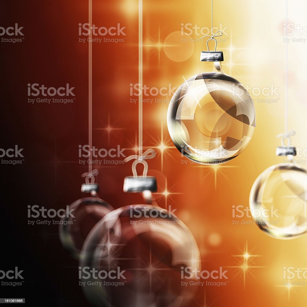 Transparent Glass Christmas Baubles royalty-free stock photo