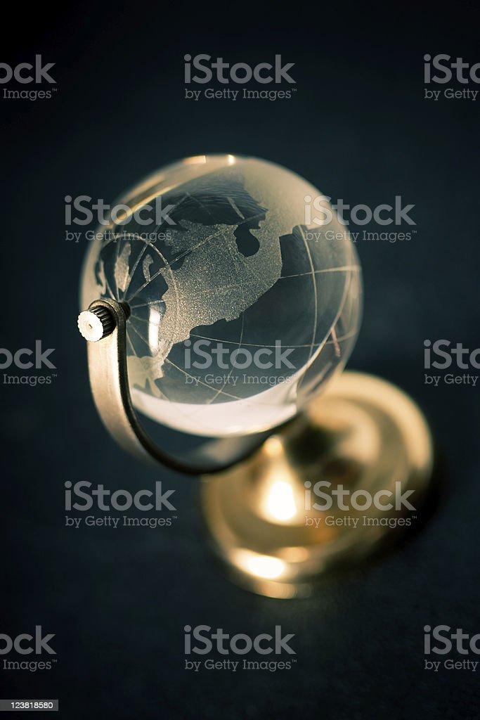 transparent glass globe stock photo